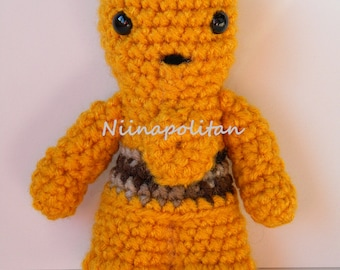 Star Wars Inspired Amigurumi Doll - C3PO - MADE TO ORDER