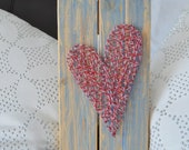 String art heart red and ...