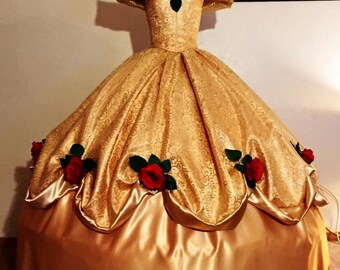 Beauty and the Beast Belle's gold ballgown