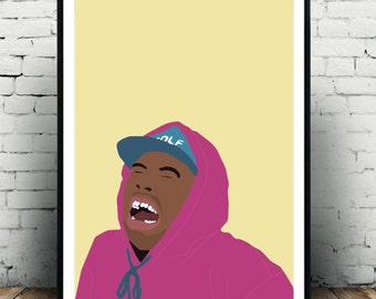 Tyler the Creator poster, Tyler the creator print, tyler the creator wall decor, odd future poster, golf wang poster, ofgwkta poster print