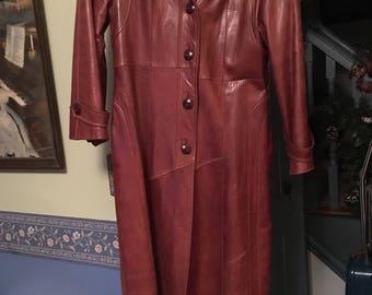 Leather vintage coat