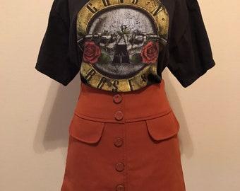 Vintage Orange High Waist skirt