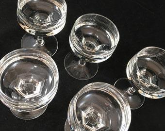 Mid Century Crystal Cordials Set of 6