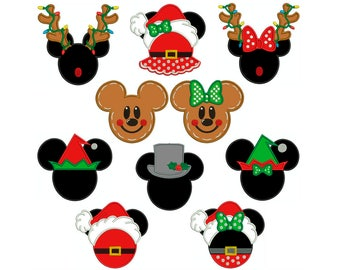 M & M Christmas - Machine Applique Embroidery - 10 Patterns in 4 Sizes - Instant Digital Download