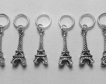 Paris Eiffel Tower Stitch Markers - set of six
