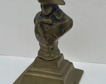 SALE! Vintage Bronze Bust of Napoleon Bonaparte Vintage Napoleon Statue Collectible