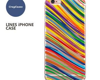 iphone 6s case, iphone 8 case Clear Stripe iPhone 6S Plus Case Clear iPhone 7 Case Clear (Shipped From UK)