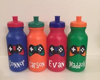 Personalized Kids Party Favor - video game controller, xbox, Sport Bottles - Ninja Turtle, soccer balls, Mickey, Minnie, Superman, Batman, P
