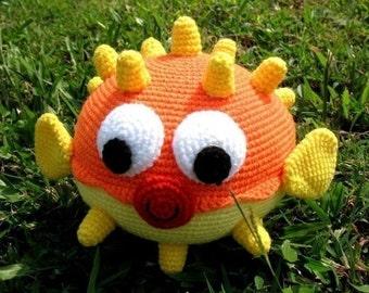 Crochet Pattern - PUFF FISH Toys - PDF  (00391)