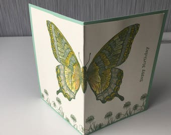 Birthday Greeting card, butterfly, 11x, 5cm, with envelope