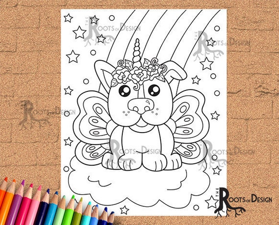 INSTANT DOWNLOAD Coloring Unicorn