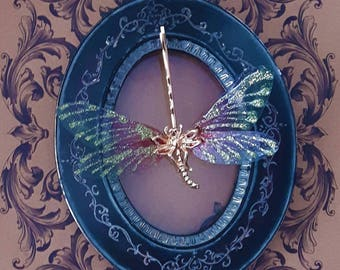 Dragonfly Wings Faerie Magick Aphrodite Hair Dragonfly Hair Pin Bobby Pin Unique Hair Accessory Golden