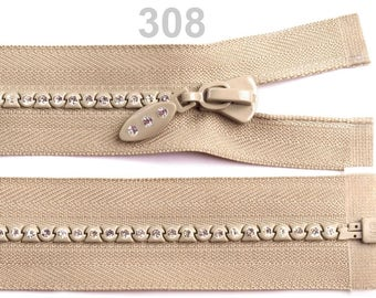 closure detachable 65 cm beige rhinestone mesh