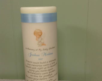 Angel memorial candle for child