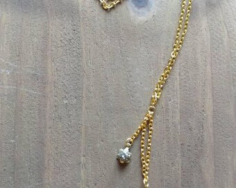 Clear Quartz Point Crystal Necklace