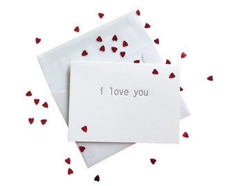 Confetti Love You letterpress card - single