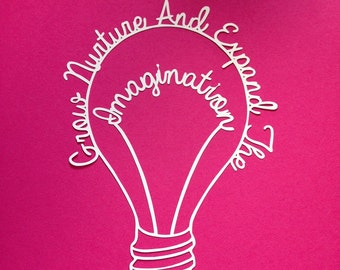 Papercut Templates - Education and Creativity themed - Imagination Lightbulb