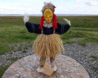 Rare Vintage African Tribal Dan Stilt Dancer Doll