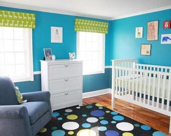 Custom Nursery Window Cornice - You Choose the Colors