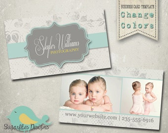 Damask Business Card Templates - Business Card 17 Damask Dots