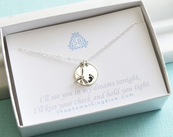 Miscarriage Necklace • Tiny Dragonfly • Baby Footprint • Bereavement Gift • Sympathy Gift • Miscarriage Keepsake• Dragonfly Necklace
