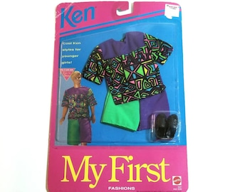 Vintage 90s Barbie My First Fashions Ken Doll Clothes Set