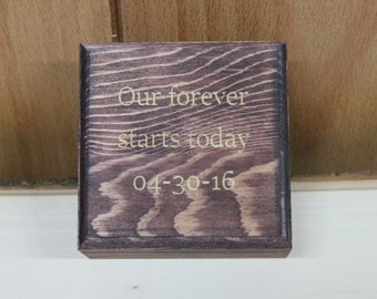 engraved Small wedding groomsmen or Bridesmaid gift box- valentines gift