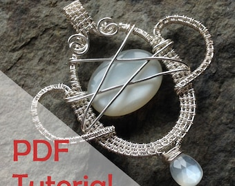 Trophy Pendant Tutorial, Wire Jewelry Tutorial, Instant PDF Download
