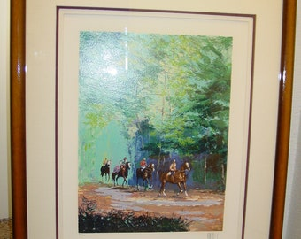 "Limited Edition Serigraph Print by Mark King ""Morning Workout"" AP 26/75, Artist Signed"