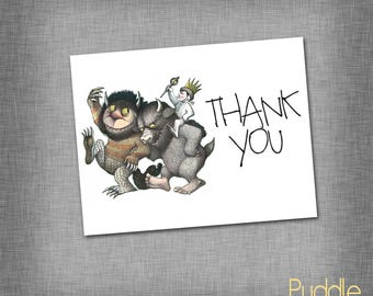 Where the Wild Things Are Thank You card