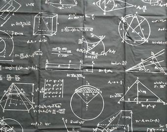 Fabric black white Mathematics formulas Modern Design Cotton Fabric Scandinavian Design Scandinavian Textile
