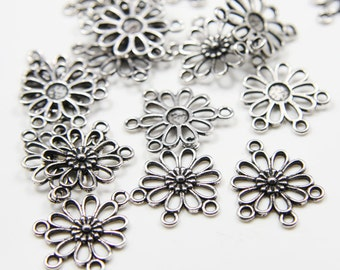 18pcs Oxidized Silver Tone Base Metal 3 to 1 component - 22x18mm (9633Y-H-326)