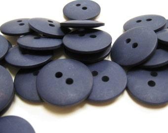 Plain Navy Blue Buttons 18mm 24 pieces