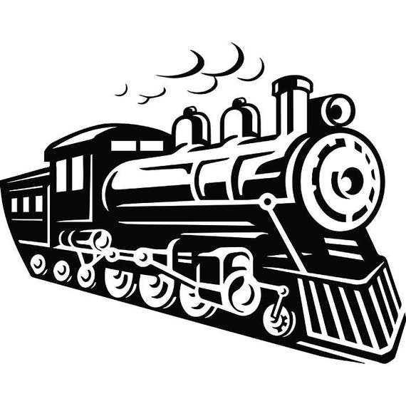 steam engine 10 train locomotive vintage railroad railway rh etsy com locomotive clipart free locomotive clipart free