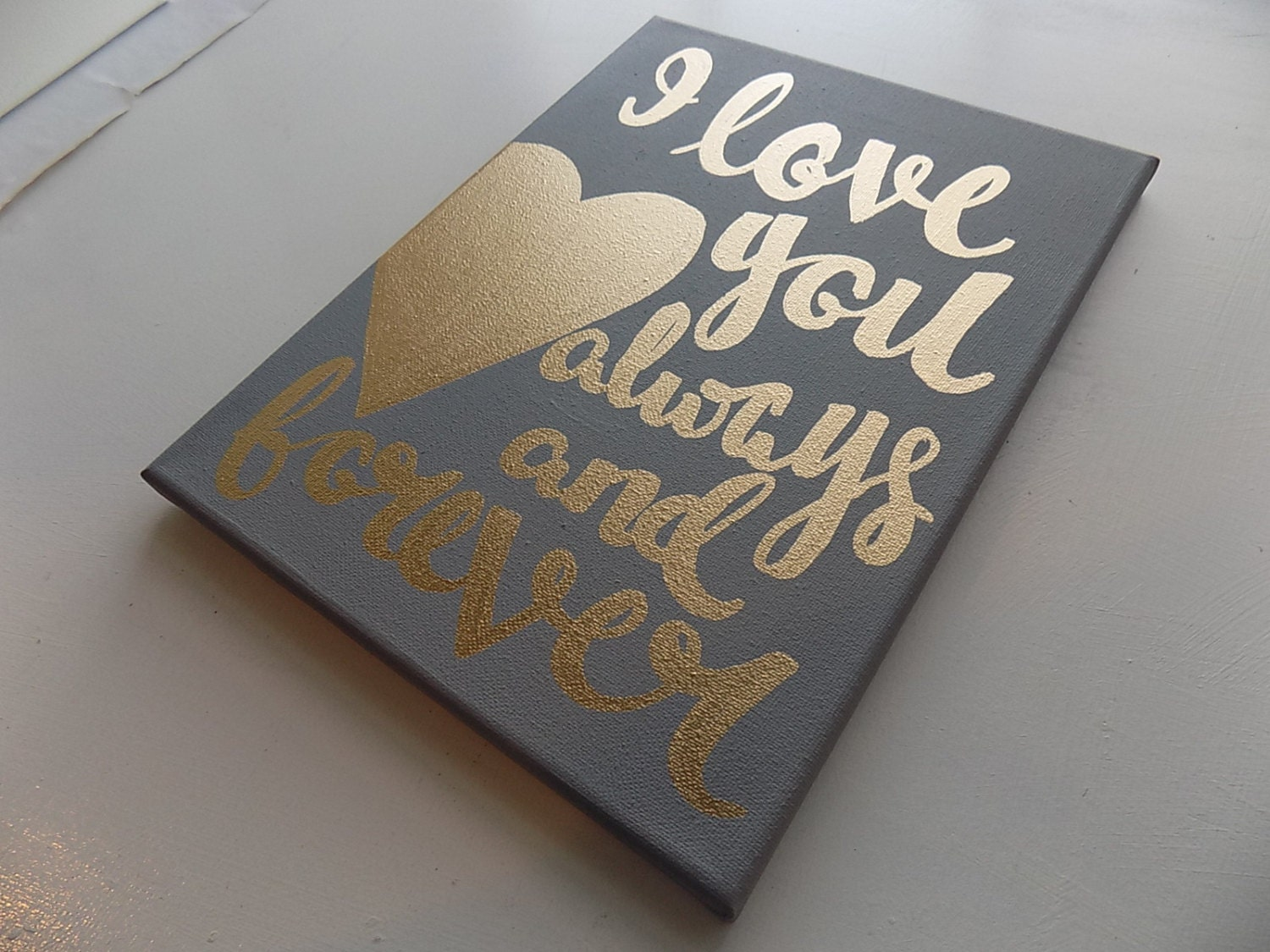 I Love You Forever I Like You For Always Quote I Love You Always And Forever Canvas Quote Art Valentine's