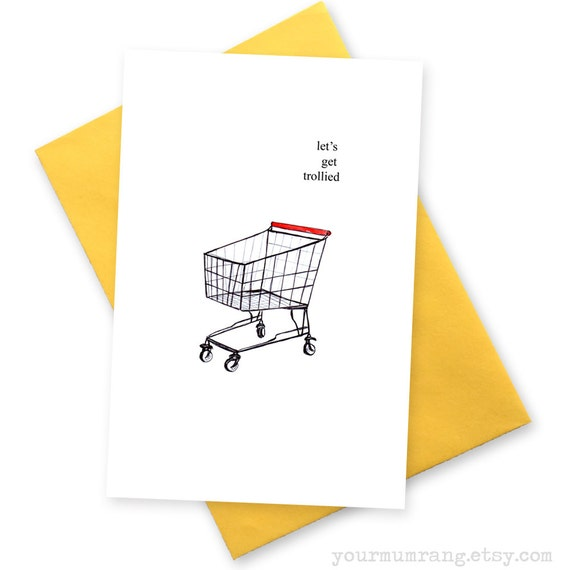 Lets get trollied funny happy birthday card 18th like this item bookmarktalkfo Choice Image