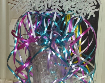 6 Fairy Princess Wands Party Favors White Snowflakes