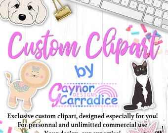 Custom clipart, custom illustration, custom graphic, personalized clip art, personalised clipart, custom vector, commercial clipart