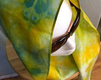 Silk Scarf Hand Dyed 100% Silk