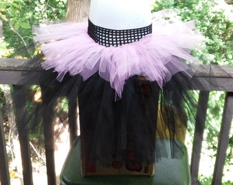 Pink and Black Layered Tutu Skirt ~ Ready To Ship!