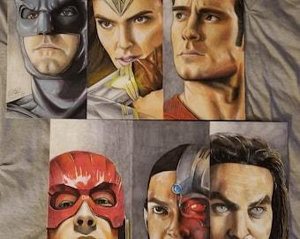 Justice League Full Team Prints