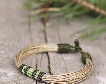 Cool Bracelet Gift for Boyfriend, Green Bracelet, String Braclet Men, Ethnic jewelry, African bracelet, Gifts for guys