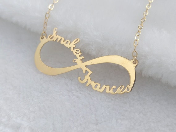 Gold Infinity Necklaceinfinity Name Necklaceinfinity Couple