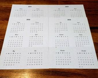 Calendar Overview 2018-2019 Digital Printable