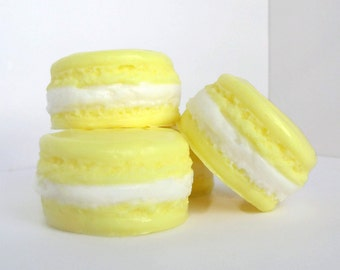 Lemon Macaroon Soaps - 4 Set