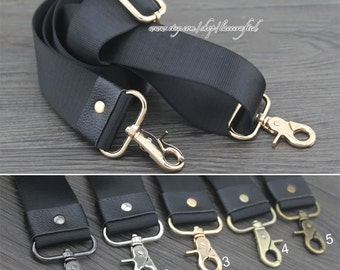 """1Pc 85-150cm/33.4-59"""" Adjustable Nylon Webbing Strap Shoulder bag straps Bag Strap Bronze Brushed Brass Gold Silvery Gunmetal Buckle"""