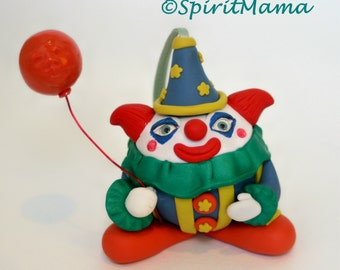 Creepy Cute Clown Ornament OOAK Halloween Christmas Holiday Tree Decoration