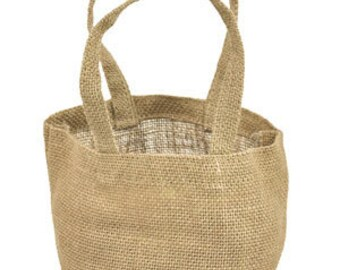 "4 « x 4 » x 4 ""Jute naturel Tote Bags (paquet de 6)"