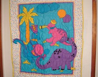 Dinosaur Parade Baby Blanket