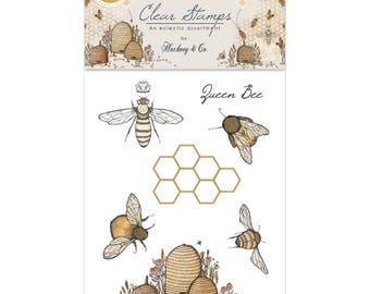 BEE STAMPS, Bees Stamps, Bee Hive Stamps, Nature Stamps, Cling Stamps, Tell the Bees, Hackney & Co Stamps, Katy Hackney Tell the Bees